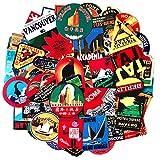 Etiqueta engomada del viaje 100pcs con el logotipo famoso del país y de las regiones del turismo Etiquetas impermeables para el equipaje Monopatín Equipaje portátil Maleta Cubiertas de libros