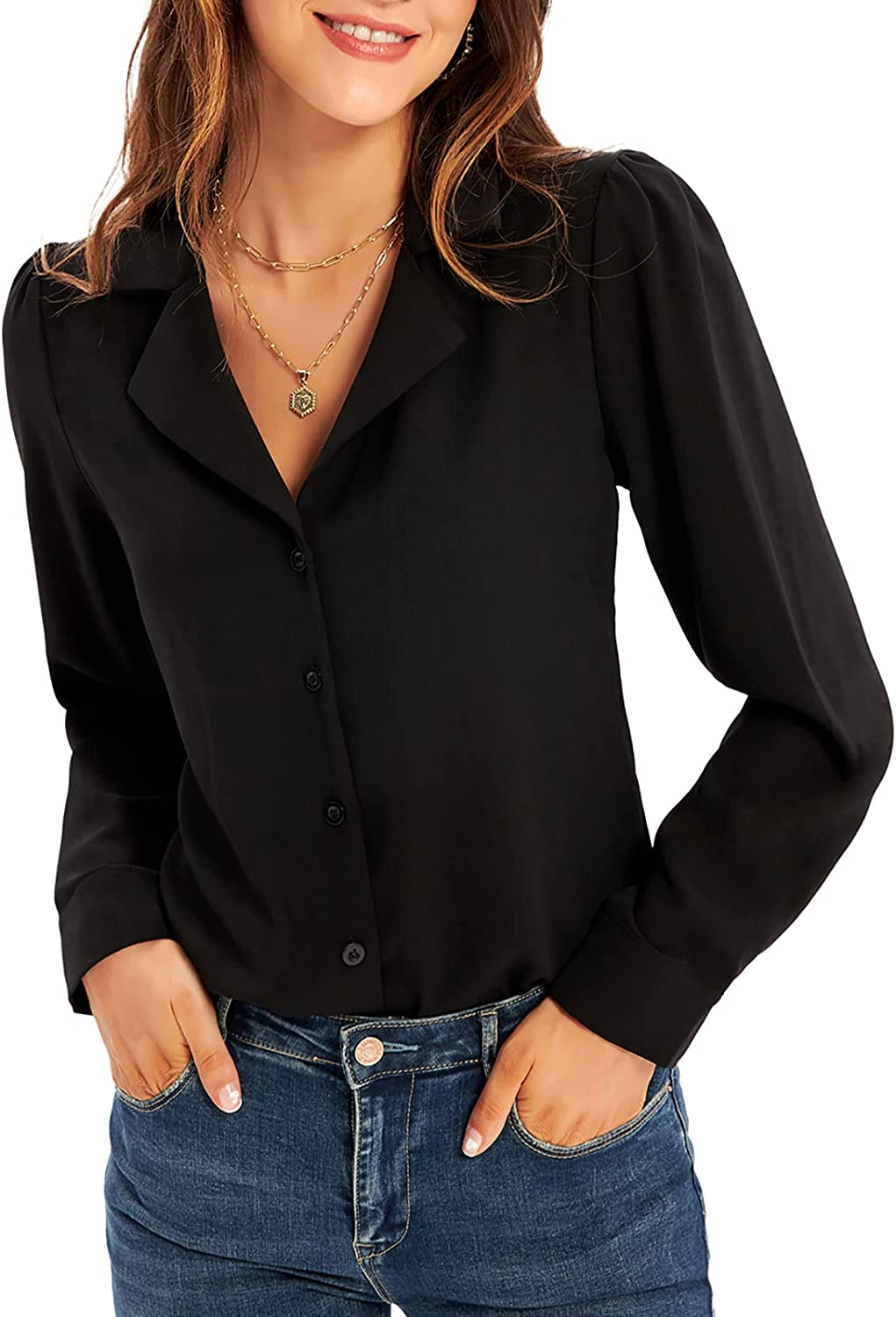 Max 77% OFF GRACE KARIN Women's Button Down Long Shirts Sale item Sleeve Busine Casual