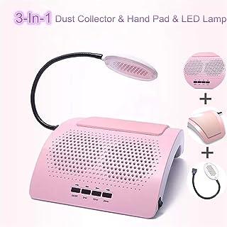Nail Art Salon Colector de Polvo de succión Máquina de manicura con lámpara LED Almohadilla de Mano Aspirador de uñas 2 Ventiladores Herramientas de manicura Equipo