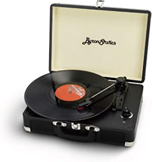 Byron Statics Vinyl Record Player, 3 Speed Turntable Record Player with 2 Built in Stereo Speakers, Replacement Needle, Su...
