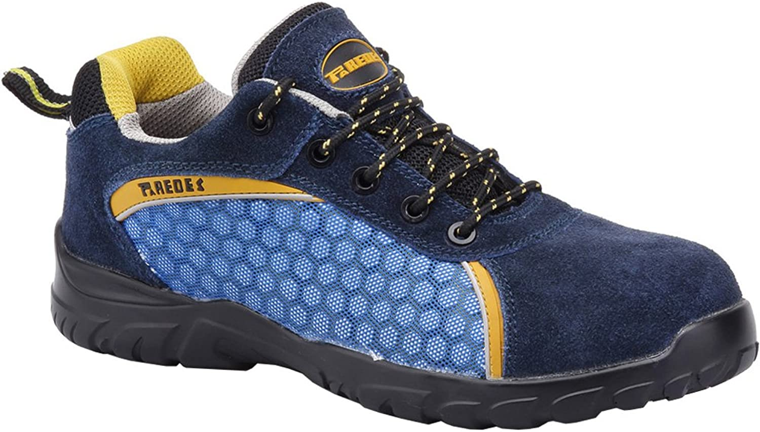 Paredes SP5013 AZ46 Safety shoes  Rubidio  S1P, Size 11, bluee - EN safety certified