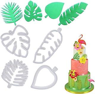 Lot de 4 emporte-pièces en forme de feuille tropicale pour pâte à sucre, bonbons, décoration de gâteaux de Luau