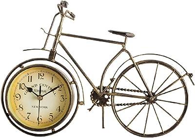 GYHJG Reloj De Pared Reloj Retro De Hierro Artesanal Reloj De Asiento De Bicicleta Casa Nueva Casa Reloj De Pared: Amazon.es: Hogar