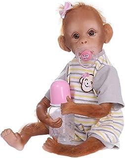 Toygogo Bebé Mono Reborn de Silicona Suavey Algodón