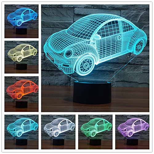 Rifornimenti quotidiani astratti Giocattolo del gioco del fumetto LED 3D USB Tavolo Scrivania Tamp Luce notturna Acrilico Regalo per bambini Decorazione domestica