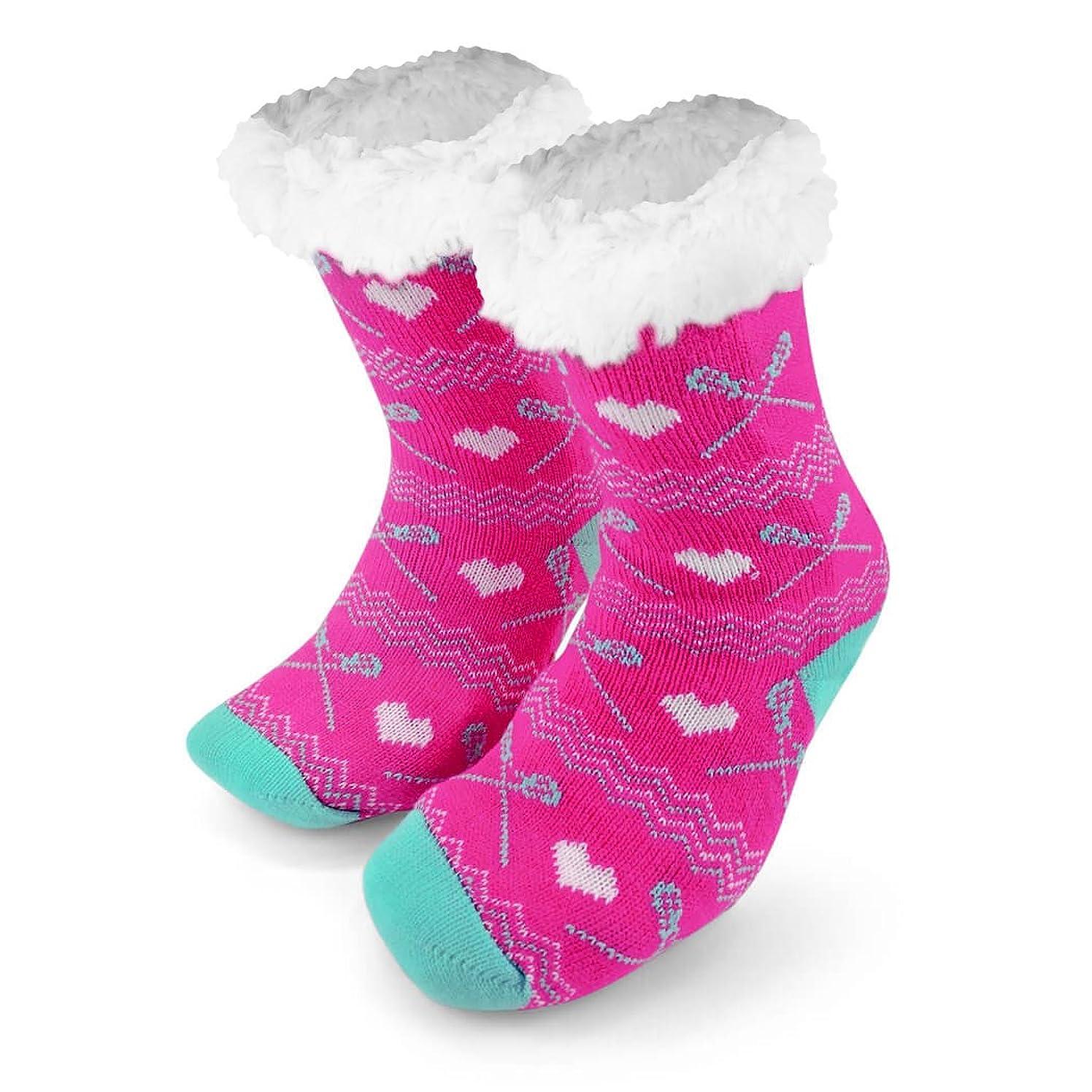 Sports Slipper Sock   Slipper Socks by ChalkTalk SPORTS   Sherpa Fleece Lined
