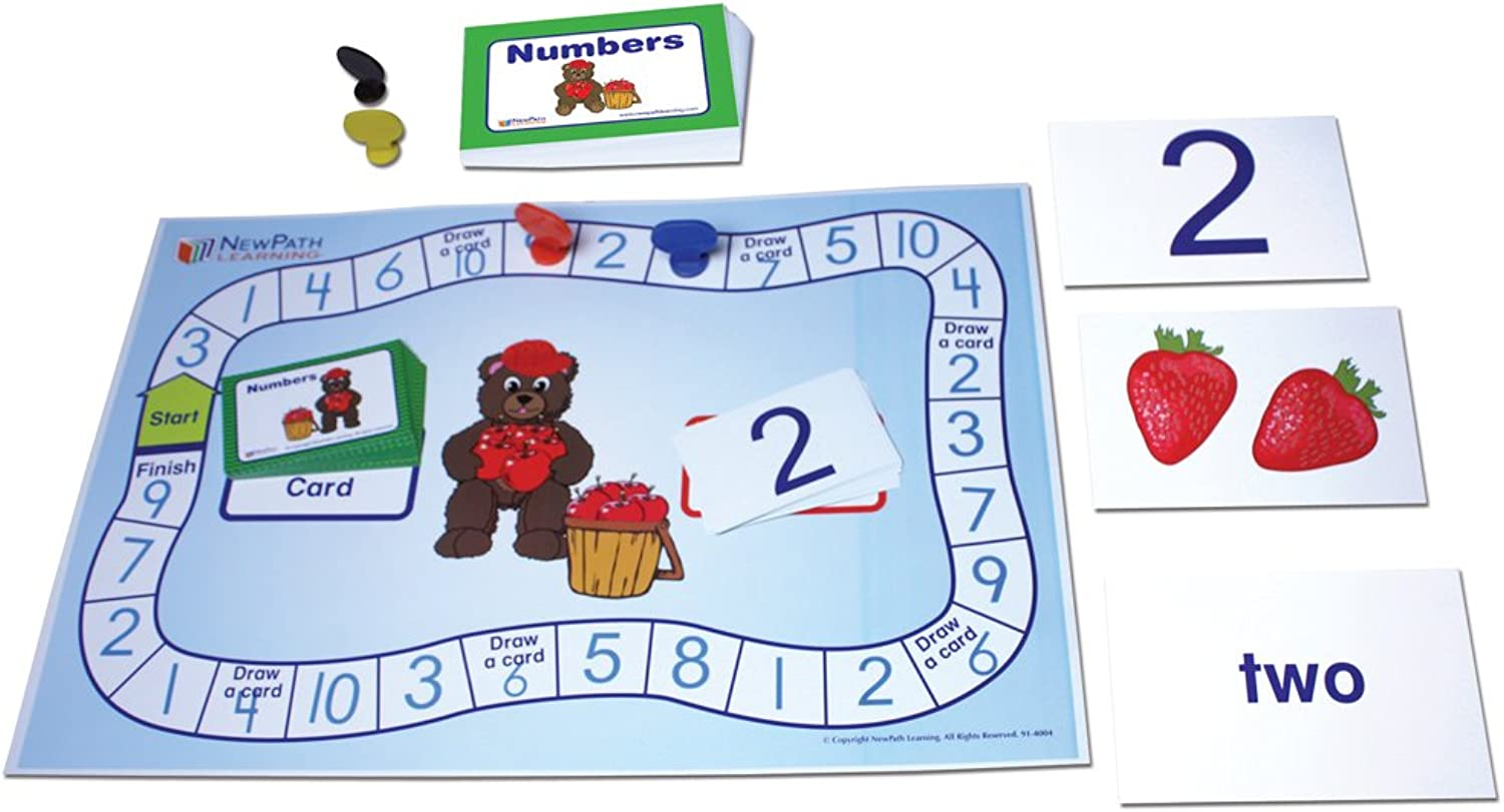 NewPath Learning 23-0023 Numbers 1-10 Learning Center Game, Grade  Kindergarten to 1