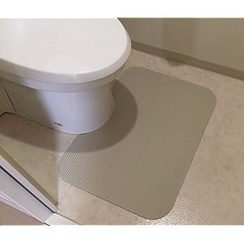 48cm x 65cm 角型 洗濯いらず ずれない 断熱 抗菌 やわらか ふく楽 トイレ マット オフホワイト