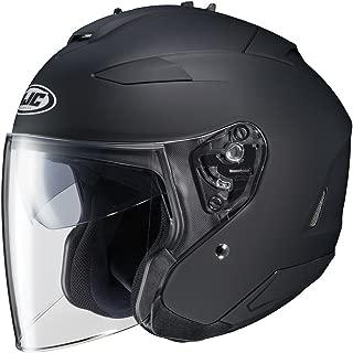 HJC IS-33 II Open-Face Motorcycle Helmet (Matte Black, Small)