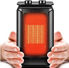 Radiador Eléctrico Calefactor eléctrico Calentador de espacios, 1500W Pequeño cerámica portátil rápida personal de precalentamiento en el mini ventilador de tabla con el sobrecalentamiento y de vuelco