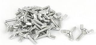tornillos de cabeza moleteados planos de acero al carbono plateados con cinc 10pcs M10 Tornillos de mariposa Tornillo de mariposa # 2
