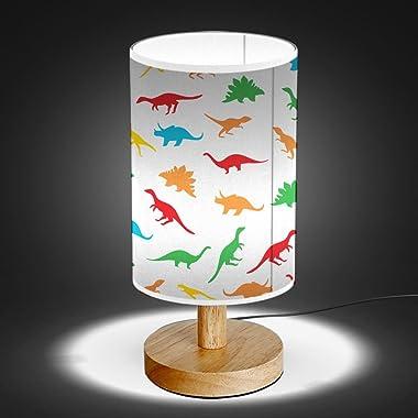 ArtLights - Wood Base Decoration Desk/Table/Bedside Lamp [ Tiny Dinosaur ]