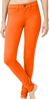 Womens Solid Color Basic Jeggings