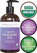 Certified Organic Massage Oil with Relaxing Lavender Scent, Perfect for Couples Massage and Stiff Muscle Relief, Works Great as a Sensual Body Oil (8 fl. oz.)