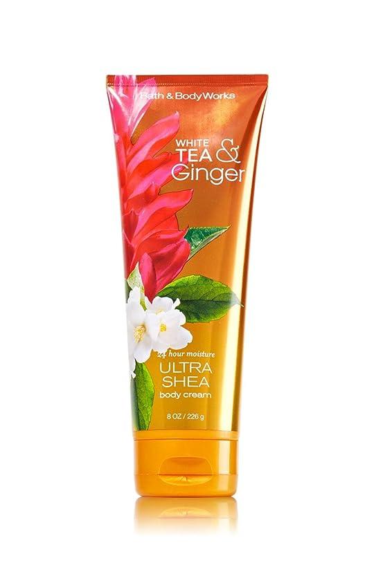曲線陸軍回転させるBath&BodyWorks White Tea Ginger Body Cream [並行輸入品]