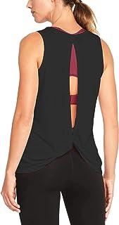 Bestisun Women Open Back Cute Knotted Workout Top Yoga Sport Gym Shirts