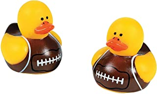 Fun Express Mini Football Rubber Ducks (Set of 24) Rubber Duckies