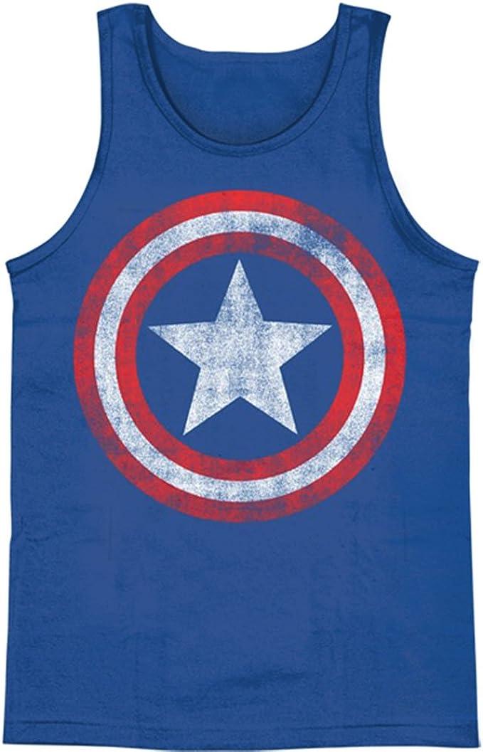 Camiseta sin mangas, Capitán América - Escudo desgastado en tamaño real M