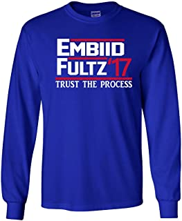 The Silo Long Sleeve Blue Philadelphia Trust The Process Embiid Fultz 17