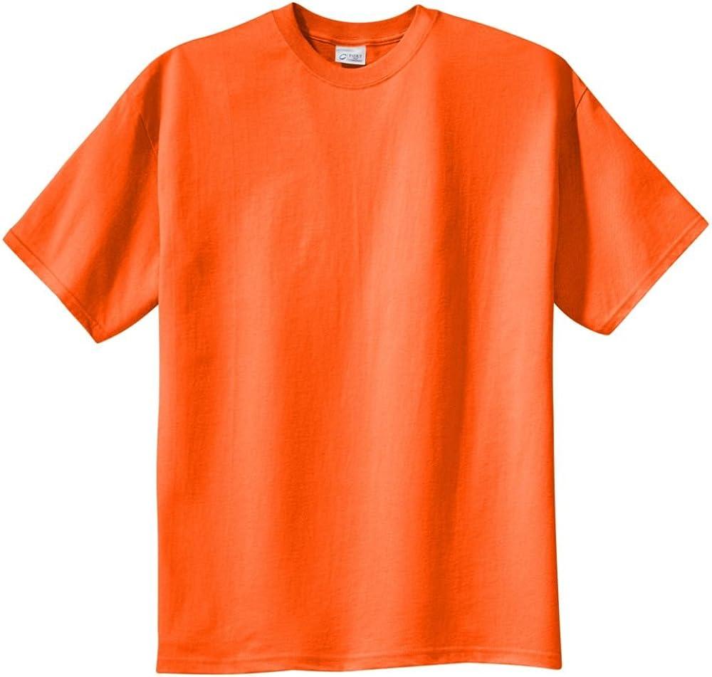 Port & Company Tall 100% Cotton Essential T-Shirt, Orange, 3XLT