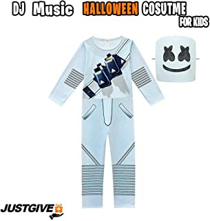 DJ Marsh Halloween Costume for Kids for Boys and Girls - Music Festival Party Cosplay Costume Long-Sleeved Shirt with Pants