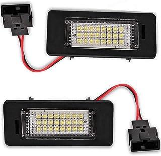 4D//5D A5//S5 Sportback A6//S6 A7 5D Sportback Q5 TT TTS TTRS V//W Passat 5D R36 D8 MuChangZi 2Pcs 24LEDs 4014SMD 12V Car License Plate Lights for A//udi A1 A4