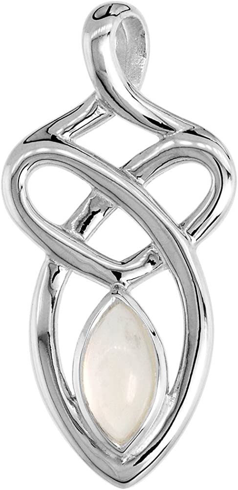 Sterling Silver Genuine Gemstone 2021 Knot Celtic Motherhood Store Pendant
