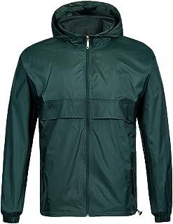 SWISSWELL Waterproof Windbreaker Rain Jacket Mens Lightweight Hooded Raincoat