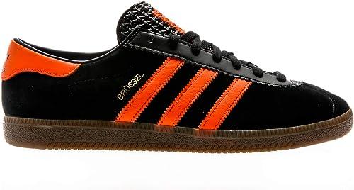 Adidas Originals Brussels, Core negro-naranja-oro Metallic, 8