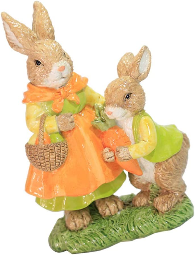BESPORTBLE Bunny High quality new Family Figurines Statues Ranking TOP13 Sculpture Resin Rabbit