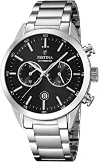 Festina Casual Watch For Men Stainless Steel Band F16826 C, Quartz, Analog