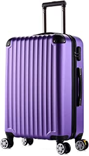YCYHMY Suitcase Universal Wheel Bag Angle Suitcase Password Box Candy Color Portable Suitcase 20 inch Purple