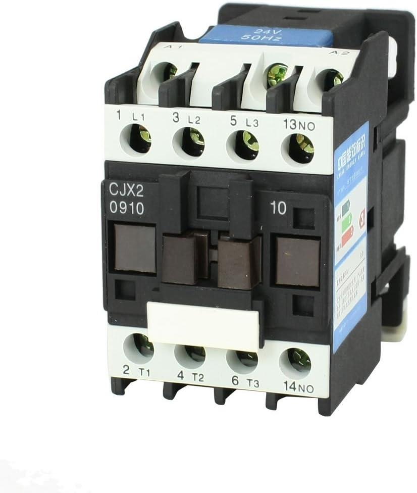 CJX2-0910 contactor de la CA 24V 50Hz bobina 9A de las 3 fases, 3 polos y 1 NA