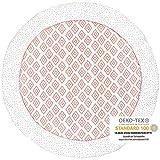 Premium Baby Krabbeldecke Rund, 100cm Durchmesser, Extra Weich Gepolstert, OEKO-TEX - Frei von Schadstoffen, 100% natürliche Baumwolle, Hochwertige Verarbeitung, Farbe: Rauten Rosa von emma...