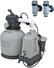 Intex Above Ground Pool 1600 GPH Saltwater System & Sand Filter Pump & Valves