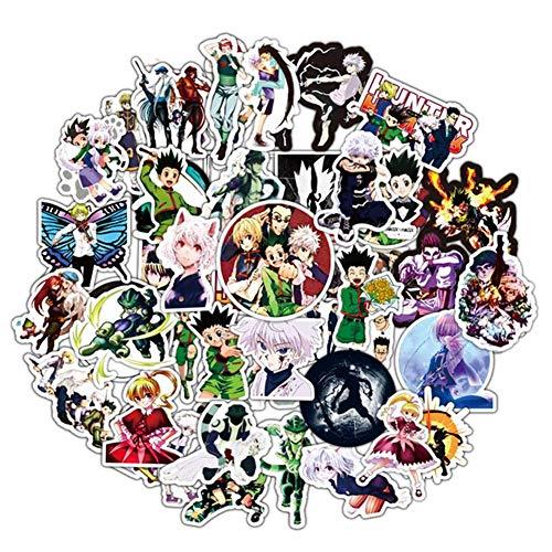 Zhongyanxin 50pcs Japan Anime Hunter Anime Vinyl Aufkleber für Snowboard Laptop Gepäck Kühlschrank Auto Vinyl Aufkleber Sticker für Japan Anime Ventilatoren - Mehrfarbig, 5-8CM