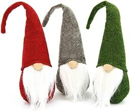 FuturePlusX Swedish Santa Gnome Plush, 3PCS Handmade Scandinavian Tomte Santa Scandinavian Gnome Plush for Christmas Santa Decoration Table Decor