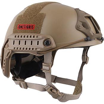 OneTigris サバゲーヘルメット ファストヘルメット MHタイプ 米軍レプリカ装備 多目的 パラシュート・作業・防災など 軽量 タン