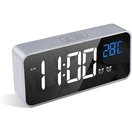 iTOMA CKS507 Radio Sveglia Digitale FM Radio Orologio Bedside sveglia con luce notturna USB di ricarica doppio allarme auto controllo della luminosit/à Dimmer grande display