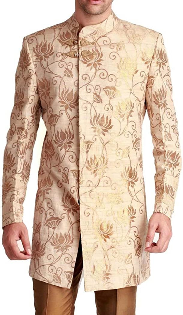 INMONARCH Kurta for Jeans Ivory Wedding Indowestern Suit Indian Wedding for Men IN0558