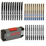 Bosch Professional Set Tough Box con 30 hojas de sierra de calar Basic for Wood and Metal (para madera y metal, accesorios de sierra de calar)