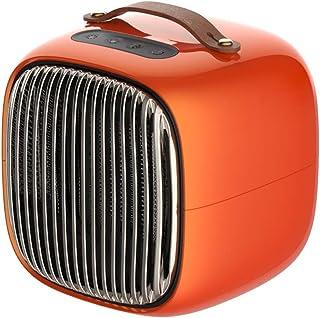 Ventilador Calentador Escritorio Calentador eléctrico 800W Velocidad Calefactor eléctrico 3 Ajuste de la Velocidad Ministerio del Interior Mano Caliente (Color : Orange)