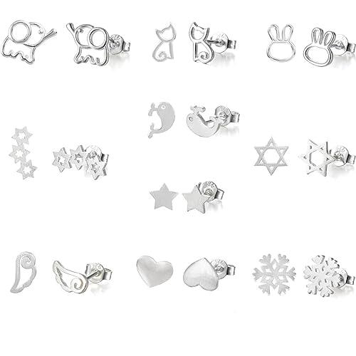6d116c840accf Silver Earrings Set: Amazon.co.uk