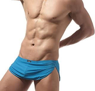 Men Side Split Sexy Boxer Shorts Briefs Underwear Trunks Panties