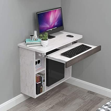 Estante Escritorio de computadora de pared flotante ...