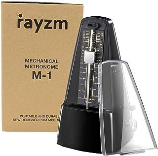 Rayzm metrónomo mecánico con alta precisión para toda clase de instrumentos (piano/batería/violín/ guitarra/bajo e instrumentos de viento). Chasquido audible y timbre de campana