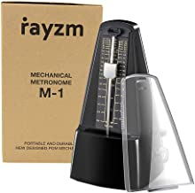 Rayzm Mechanical Metronome with High Precision for All Kinds of Musical Instruments (Piano/Drum/Violin/Guitar/Bass & Wind ...