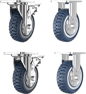 Zwenkwiel met directionele demping 4 inch 5 inch 6 inch dragende 2000 lbs accessoire caster heavy duty duwbasis stuurwiel-...