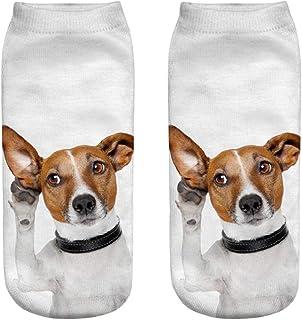 DEELIN Sale Socks Unisex Womens Socks Cute Casual Business Socks Breathable 3D Dog Printing Medium Sports Socks Mens Novelty