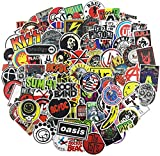 YONGAI 100Pcs Music Band Stickers for Guitar Laptop Bass Piano Violin Drum Skateboard Travel Case Water Bottle Phone Cool Rock and Roll Decal for Teen&Adult